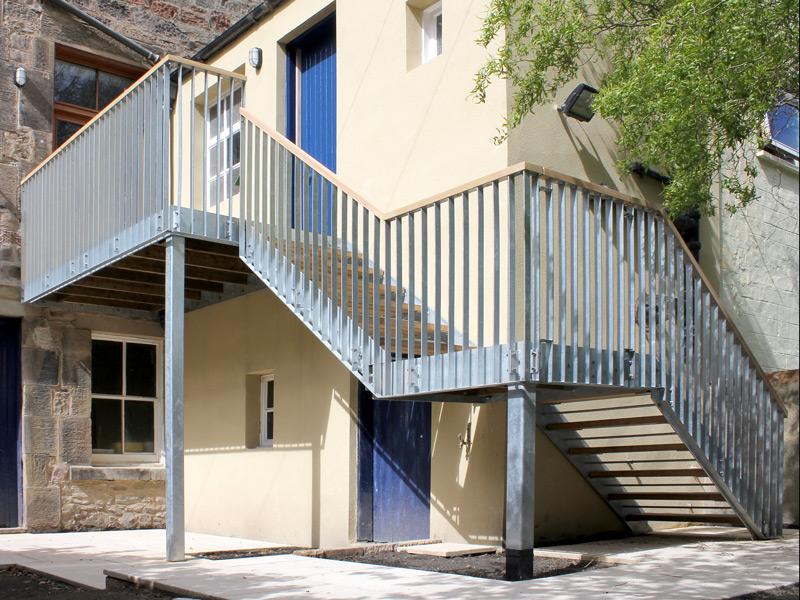 External stairwell